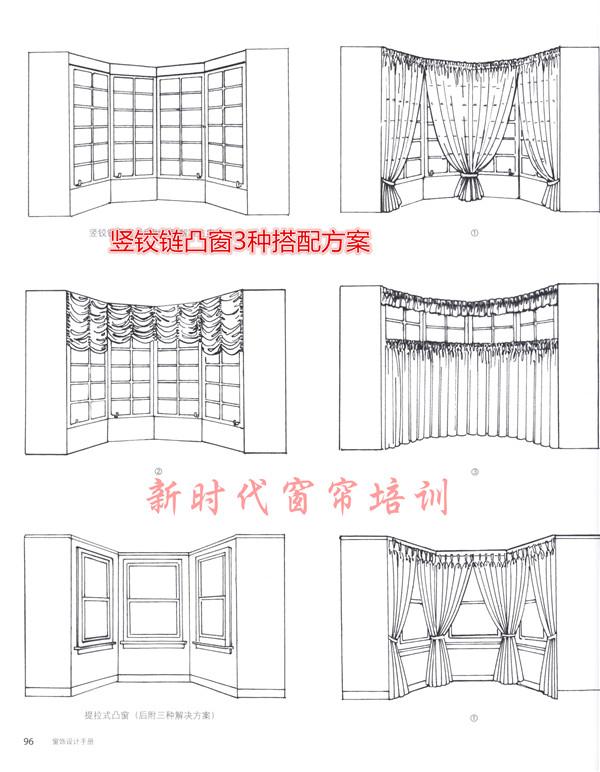 窗帘帘头水波的组合培训形式和异性窗的搭配技巧