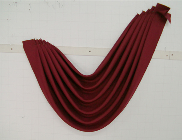 欧式水波窗帘红色
